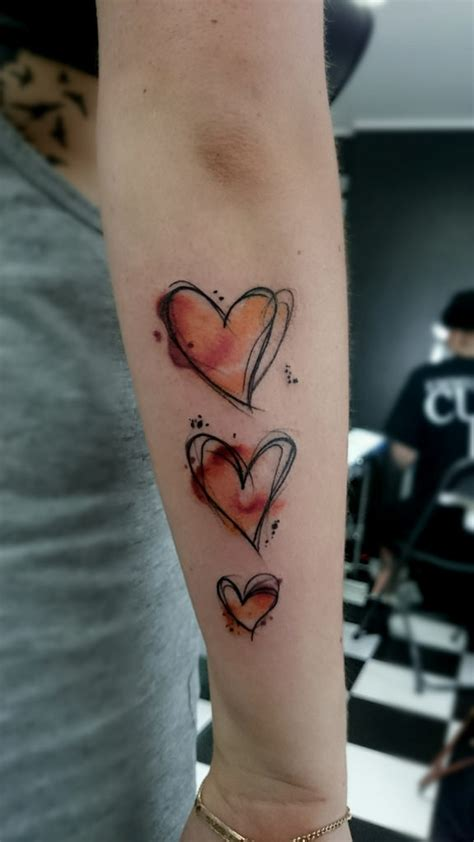 whitepawaktion tattoo watercolor heart sketch zeichn