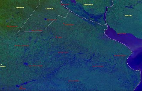 ver imagenes satelitales online inundaciones en el norte y centro de la provincia de