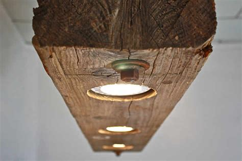 Reclaimed Wood Light Fixture by Wooden Beam Light Fixture By Rte 5 Reclamation