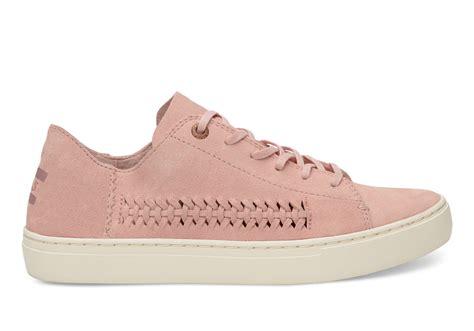 womans sneakers pale pink suede s lenox sneakers toms 174