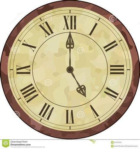 clipart orologio antique numeral clock stock vector illustration of