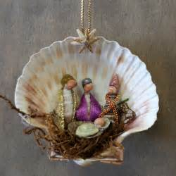 christmas crafts with shells three wise shell manger nativity and ornament