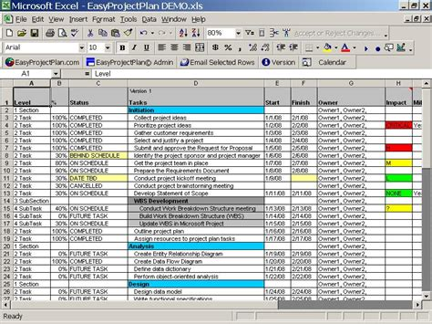 Project Plan Template Excel Free by All Templates Project Plan Template