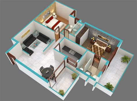 2 bhk home design image cool 3d 1000 sq ft 2bhk house plans design