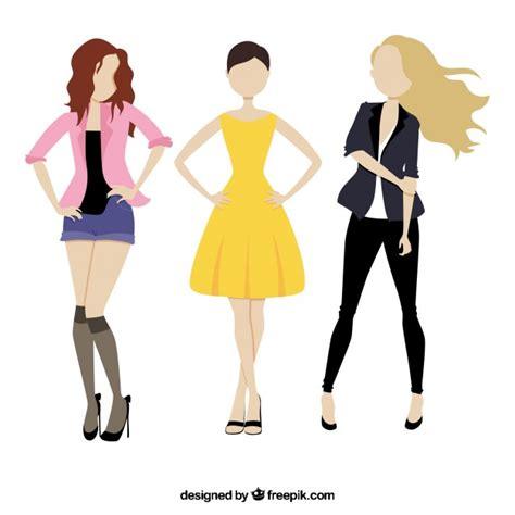 casual model girl casual models girls vector free download