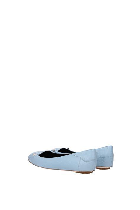 light blue ballet flats ballet flats balenciaga leather light blue