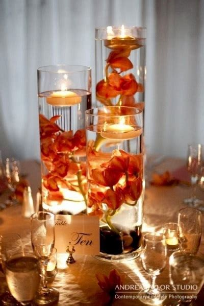 wedding reception centerpieces floating candles 23 vibrant fall wedding centerpieces to inspire your big day
