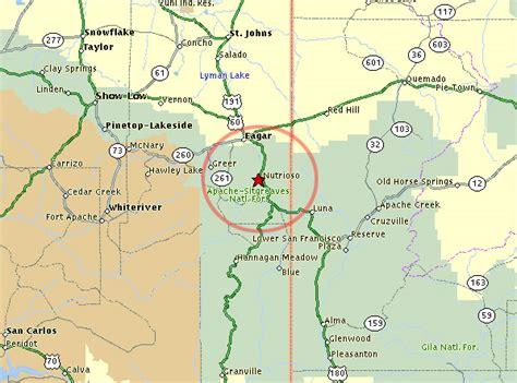 white mountains arizona map white mountains nutrioso coyote real estate unique