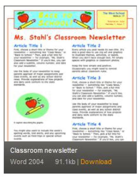 Microsoft Office Templates Newsletter by Free Newsletter Templates For Print And Web Newsletter