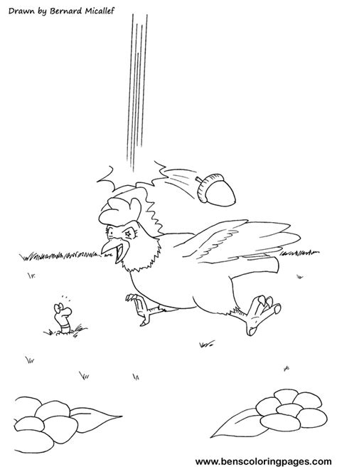 chicken licken coloring page chicken licken coloring pages