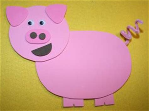 Construction Paper Crafts For 2 Year Olds - best 20 pig crafts ideas on plastic piggy