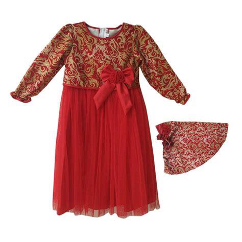 Gamis Buke Merah jual baby zakumi motif batik baju gamis anak perempuan