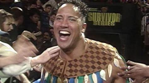 dwayne the rock johnson wwe debut the rock makes his wwe debut survivor series 1996 wwe