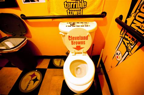 steelers bathroom pittsburgh steelers fans make themselves part of the team