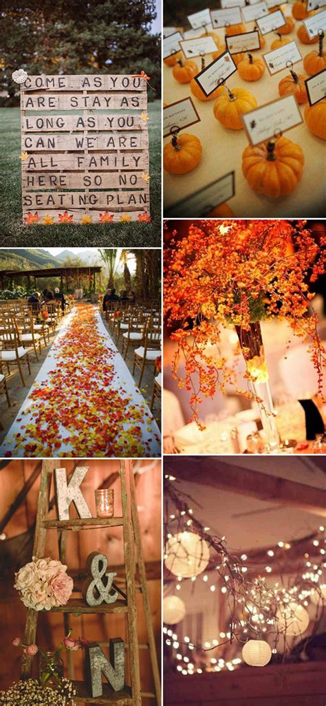 autumn themed wedding decorations 30 great fall wedding ideas for your big day decoration