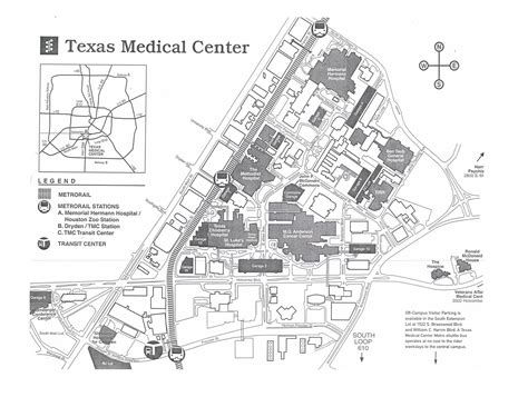 texas center parking map map harris county hospital district foundation