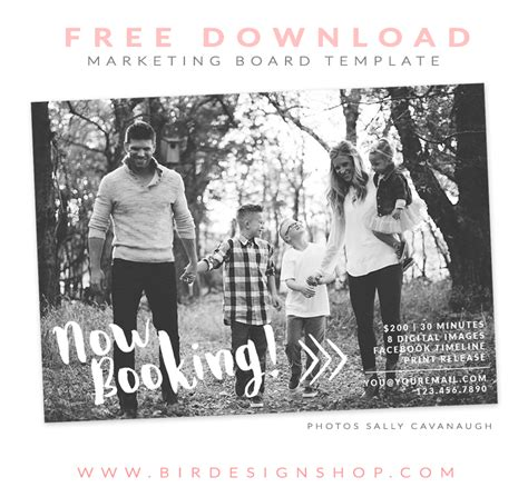 Free Photography Marketing Templates by Free Marketing Board Template Bird Designs Shop Photo
