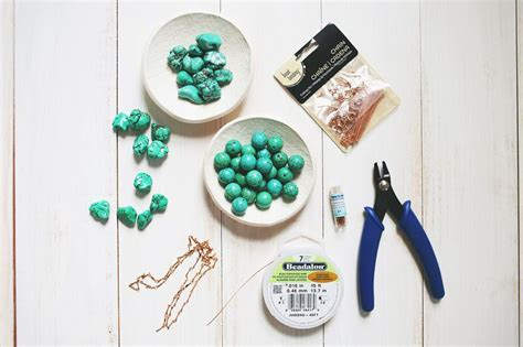 what do i need to make jewelry how to make a simple beaded necklace a beautiful mess