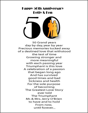 50th wedding anniversary poems in funniest anniversary poems collection