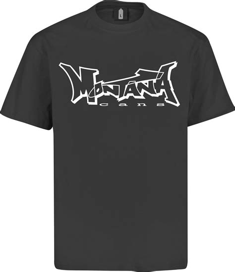 The Addicted T Shirt Logo White montana logo t shirt black white