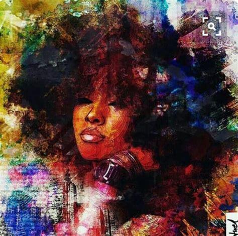 image result  black woman afro painting art art black love art black women art