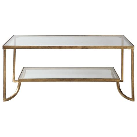 glass gold coffee table madox modern classic antique gold leaf glass coffee table