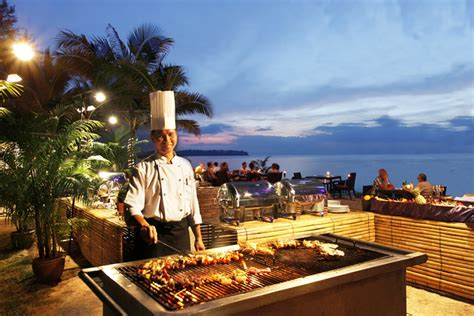 Asian Dining Room Table andaman seafood bbq buffet at casuarina beach restaurant