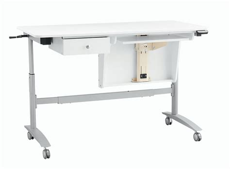 inspira electric multi lift sewing table white only