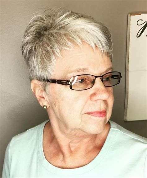 Pixie Hairstyles For 50 With Glasses by Hairstyles For 60 With Glasses To Look Fresh