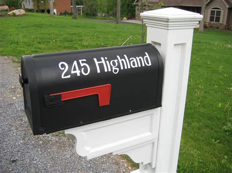 house address mailbox house numbers vinyl decal street address sticker set