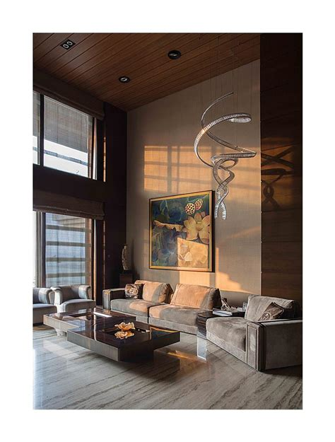 rakeshh jeswaani homes double height living room india