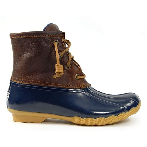 sperry top sider saltwater duck boot navy womens