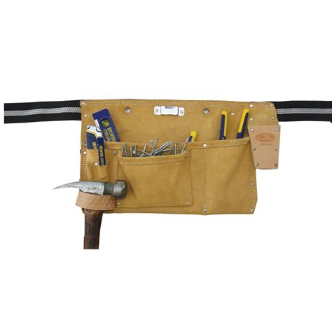 irwin rooster 6 pocket split leather construction tool belt