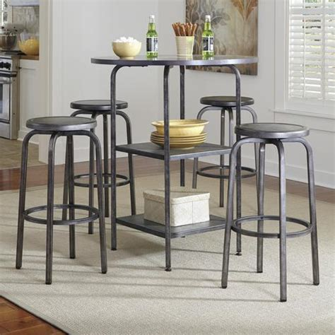 industrial pub table set signature design by hattney industrial style 5