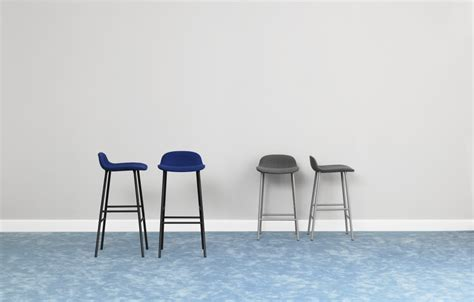 Normann Copenhagen Bar Stool by Form Stool Upholstered Timber Steel Janie Collins Interiors