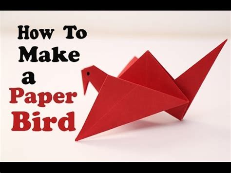 How To Make A Simple Paper Bird - how to make a paper bird diy easy origami for