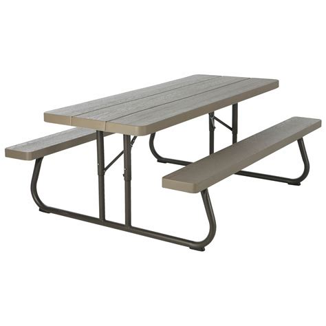 lifetime 6 table lifetime 6 folding picnic table brown bjs wholesale