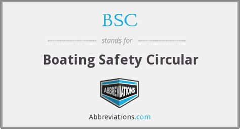 bsc boating safety circular