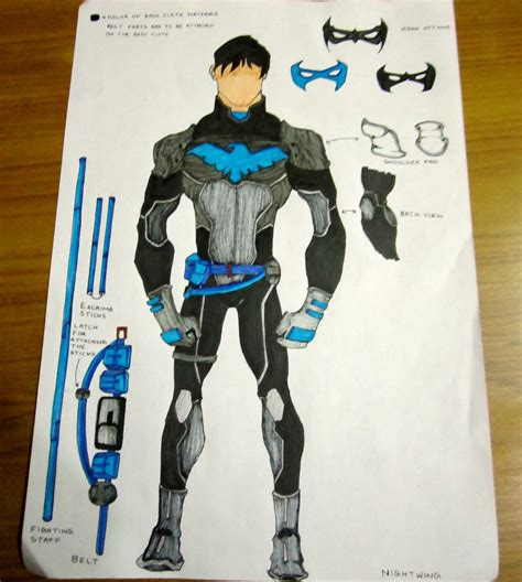 How To Make A Paper Costume - make a nightwing costume of your own nightwing