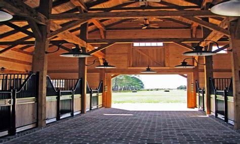 lighting horse barns  loft timber frame