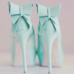 Duvet Ties Shoes High Heels Bow Ties Blue Green Blue Green Cute