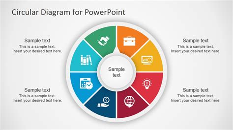 circular flow diagram template circular diagram for powerpoint slidemodel