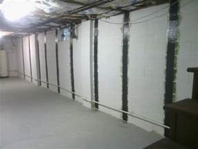 bowing basement wall ohio basement authority foundation repair photo album carbon fiber installation and bowed