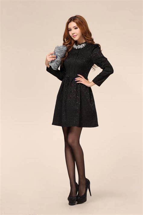 gaun modern panjang gaun pesta modern hitam lengan panjang model terbaru