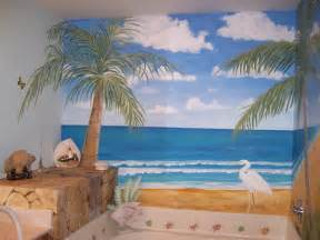 Unique beach themed bathroom decorating ideas kids bathroom wall decor