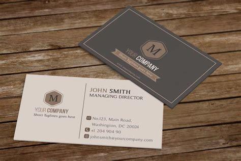 retro business card template psd free psd template minimal retro business card free psd