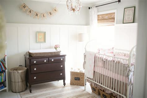 vintage farmhouse chic nursery for harley chapel project