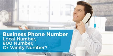 Local Vanity Phone Number by Business Phone Number Local Number 800 Number Or Vanity