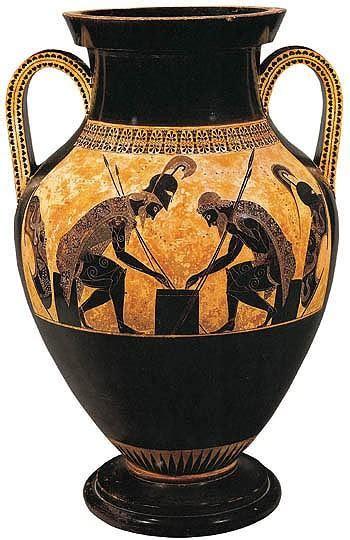 vaso attico vaso attico a figure nere viaggio nel