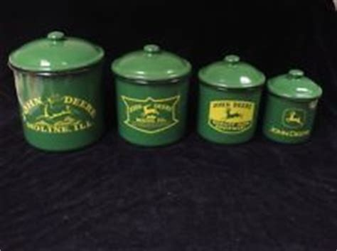 john deere kitchen canisters john deere kitchen decor junque ez thrift consignment
